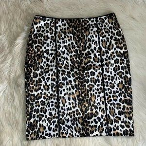 White House Black Market Pencil Skirt Size 6 Leopa